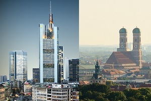 Finanzplätze München Frankfurt Bild