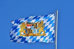 Bayern Wirtschaftsmotor Flagge Bild