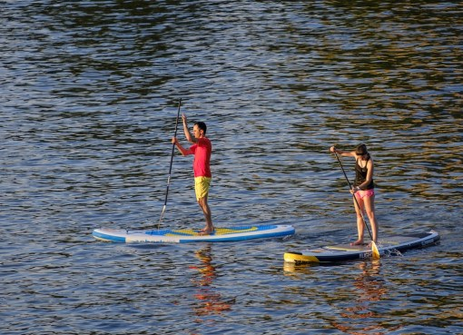 Stand Up Paddling, Foto, See