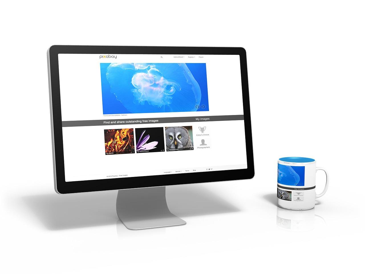Internetauftritt Webseite PC Foto