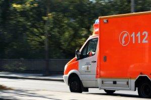 Bayerische Soforthilfe Krankenwagen Foto