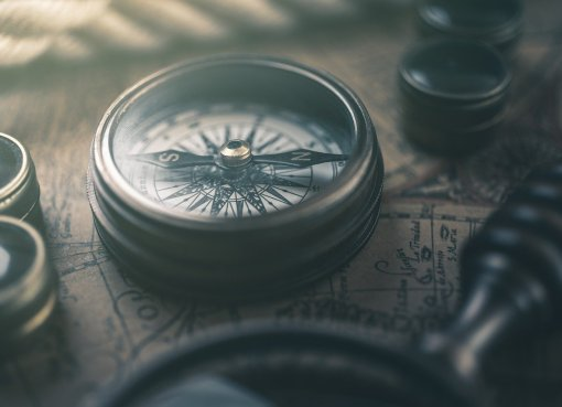 Umbruchzeiten Kompass Foto