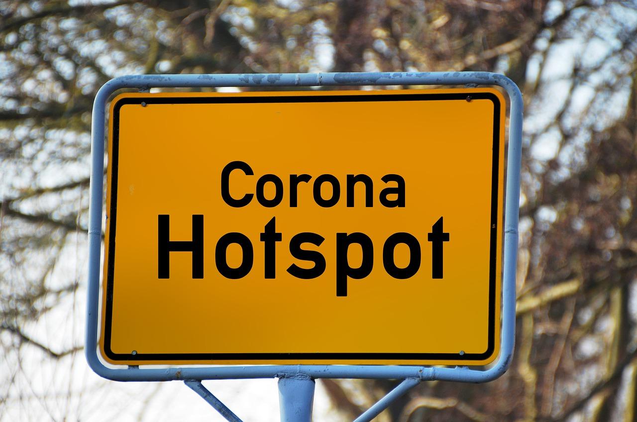 corona hotspots foto