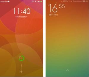 Lockscreen MIUI v6 vs MIUI v5