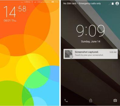 Notifiche lockscreen MIUI 6 vs Android L