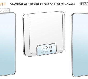 Xiaomi brevetto smartphone flessibile a conchiglia con fotocamera pop-up