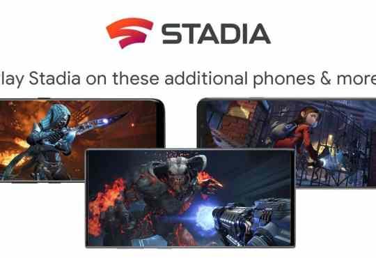 Google Stadia nuovi smartphone