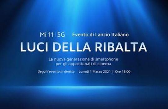 Xiaomi Mi 11 5G presentazione italia