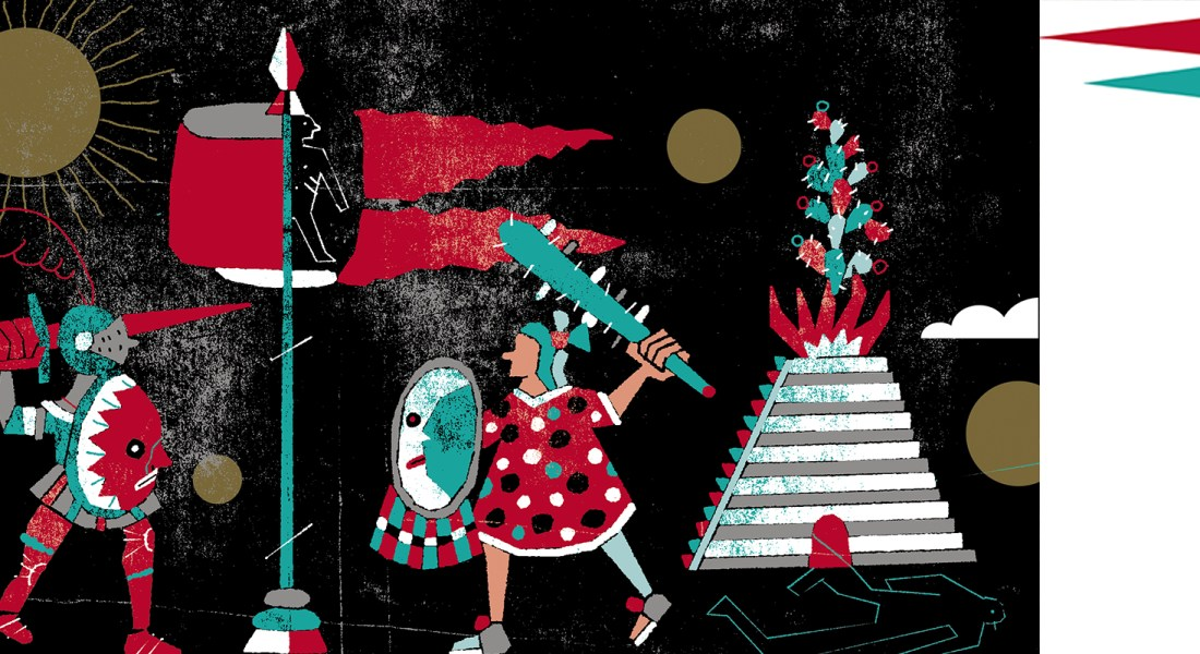 Presagio del fuego. Ilustración de Santiago Solís