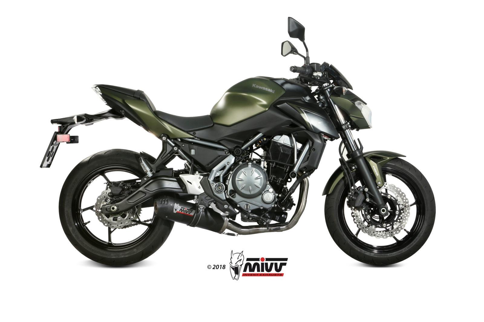 Kawasaki Z 650 Exhaust Mivv Oval Carbon With Carbon Cap K