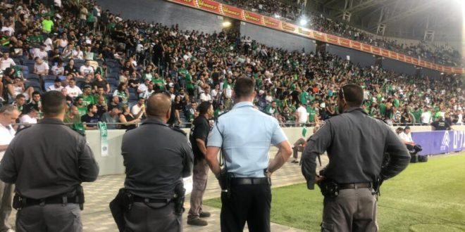 היערכות המשטרה למשחק הכדורגל באיצטדיון טרנר בבאר שבע
