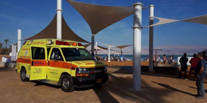 גבר בן 82 טבע למוות בחוף עין בוקק בים המלח