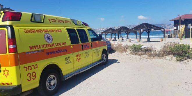 אישה בת 65 טבעה בחוף הכרמל בחיפה, מצבה קשה