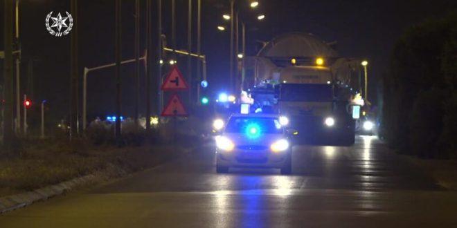 כבישים יחסמו בעקבות ליווי מטען חורג מנמל אשדוד לים המלח