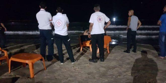 סריקות אחר צעיר שנכנס לים ונעלם בחוף הדולפינריום בתל אביב