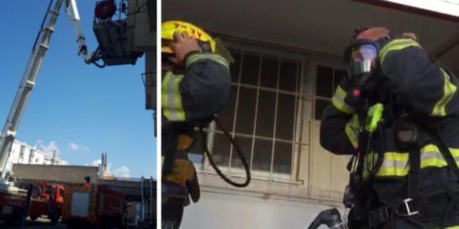 שריפה פרצה בבית אבות בעכו, 7 קשישים חולצו ללא פגע