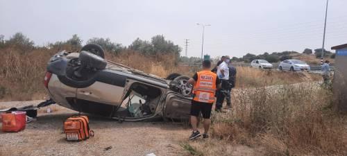 WhatsApp-Image-2021-05-09-at-12.34.13-1-500x225 צעירה בת 21 נפצעה בינוני בהתהפכות רכב בצומת חריש
