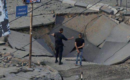 WhatsApp-Image-2021-05-13-at-18.13.39-500x308 תיעוד מטורף: תקיפת מטה המנגנון לביטחון הפנים של חמאס ברפיח