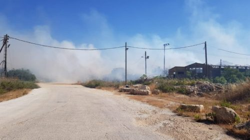 WhatsApp-Image-2021-05-18-at-19.11.24-500x281 לוחמי אש מתחנת בנימין פעלו לכיבוי אש תוך כדי הפרת סדר המלווה בירי