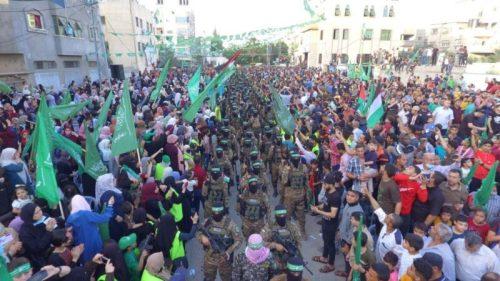 photo5298700161393996669-500x281 חמאס קיים עצרת המונית לרגל ''ניצחון ההתנגדות בקרב על חרב ירושלים''