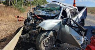 טבריה - חילוץ לכוד בתאונת דרכים בכביש 65. ...