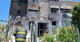 טבריה -  שריפת מבנה ברח' זבוטינסקי. לוחמי ...