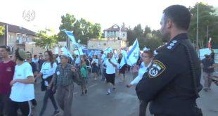 כוחות גדולים של משטרת ישראל שמרו על הסדר והביטחון במצעד הדגלים שנערך ה...
