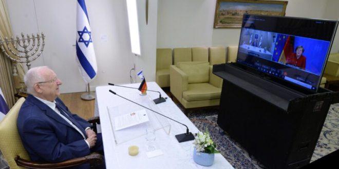 נשיא המדינה קיים שיחת פרידה מקוונת מקנצלרית גרמניה אנגלה מרקל