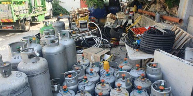 2 תושבי הכפר אבו סנאן עוכבו לחקירה בחשד להחזקת כ-104 בלוני גז