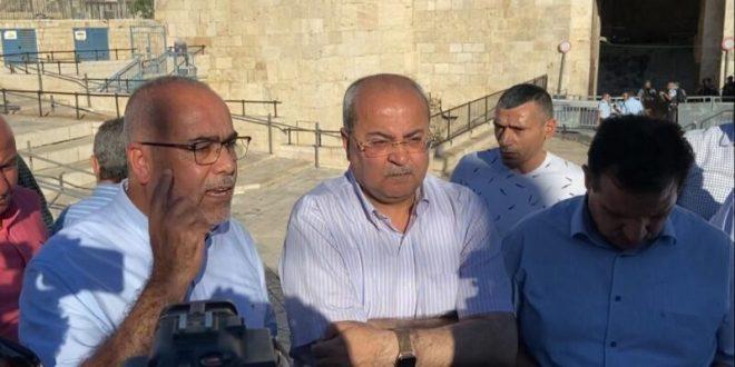 """ח״כ אוסמה סעדי משער שכם: """"מתנגדים לכיבוש ולבריונות הישראלית"""""""