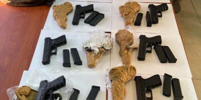 סוכלה הברחת נשק מגבול לבנון, 12 אקדחים נתפסו