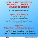 U.S PINOYS for Good Governance and the City of Warren to Hold Informative Digital Census Workshop