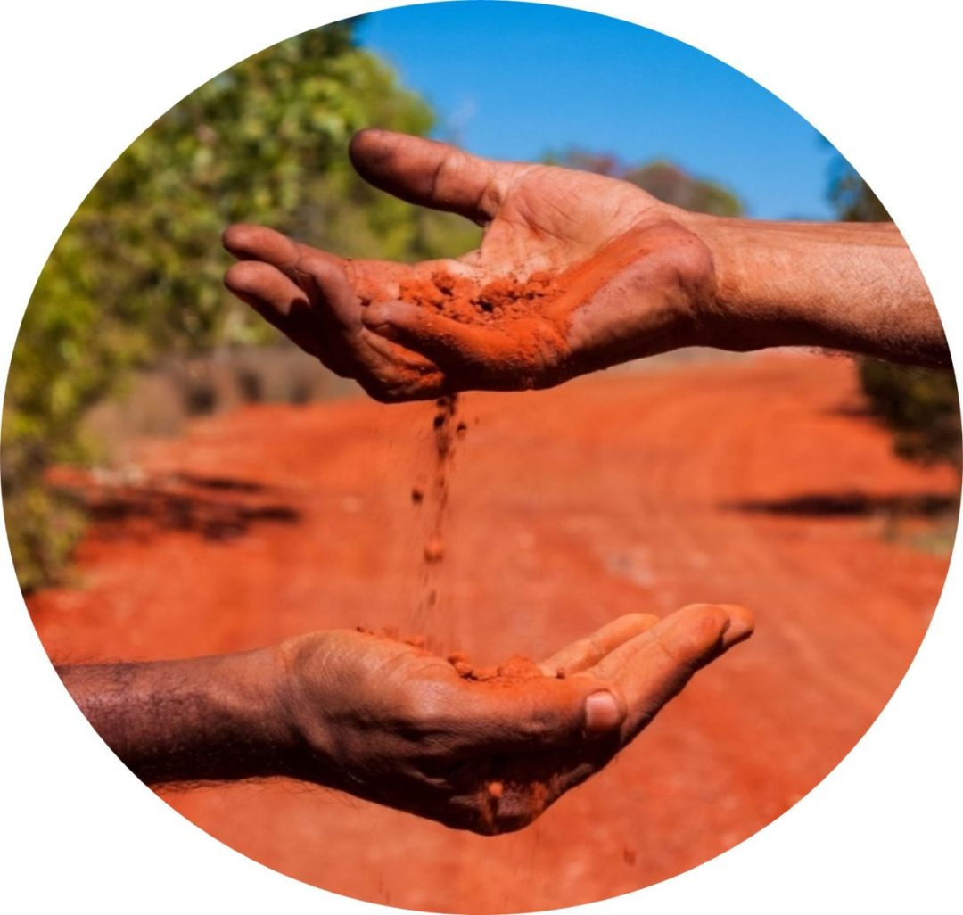 Miwatj Health Hands with sand