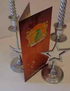 Cartas de menu restaurante