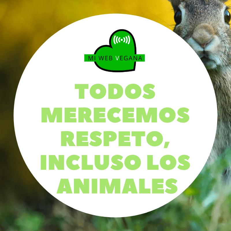 Todos merecemos respeto, incluso los animales
