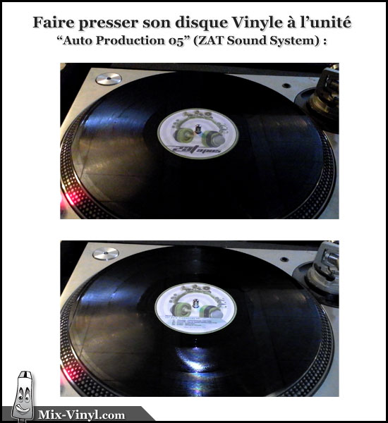 Pressage disque vinyle