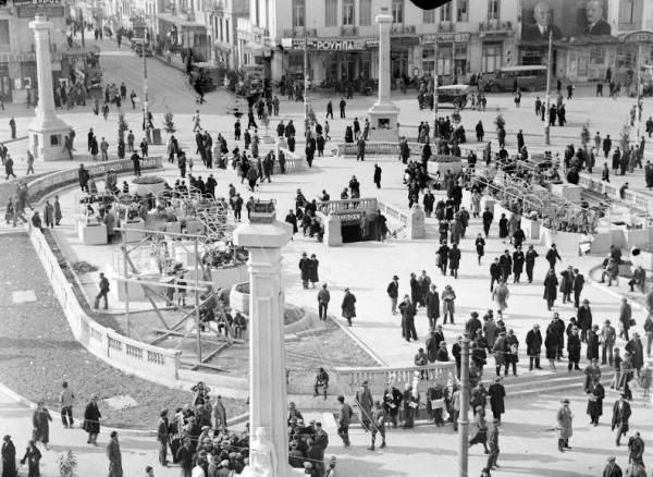 Αθήνα, πλατεία Ομονοίας, 1934, φωτογραφία του Hjalmar Larsen