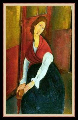 Πορτρέτο της Ζαν με κόκκινο σάλι. 1917, Μοντιλιάνι.