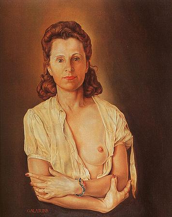 Πορτραίτο της Γκάλα από τον Νταλί.