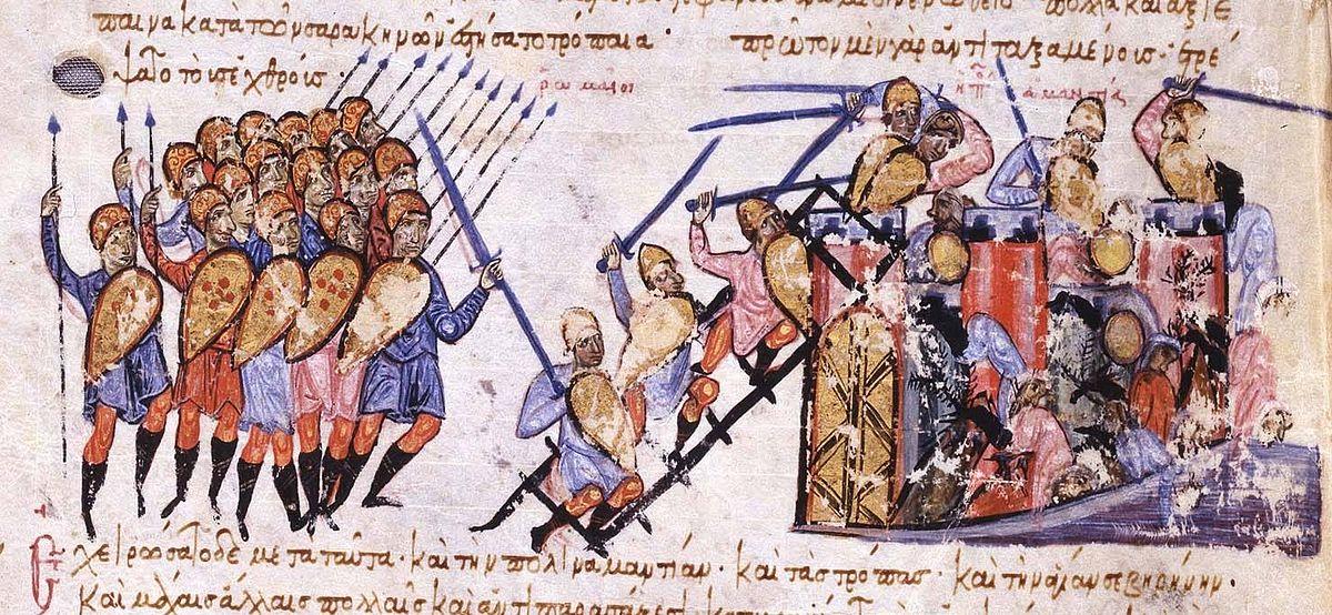 Η αλαζονική εκστρατεία του βυζαντινού αυτοκράτορα Νικηφόρου Α΄ εναντίον του Κρούμου. Ο Βούλγαρος τον νίκησε και έκανε το κρανίο του επάργυρο δισκοπότηρο
