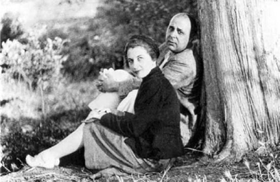 Ο Γιώργος Σεφέρης με την σύζυγό του, Μαρία Ζάννου