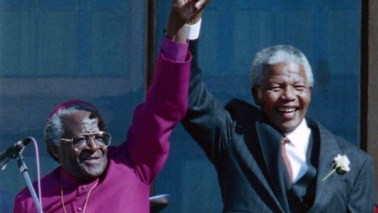 Desmond Tutu and Nelson Mandela