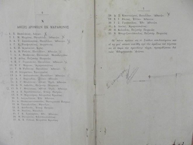 Ο Βασιλάκος στην πρώτη θέση των Πανελλήνιων Αγώνων. Προσωπικό κειμήλιο του Βασιλάκου που παραχώρησαν τα εγγόνια του στο Μουσείο Μαραθωνίου Δρόμου.