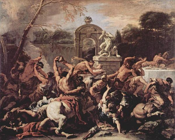 Μάχη των Κενταύρων και των Λαπίθων, Sebastiano Ricci (1715)