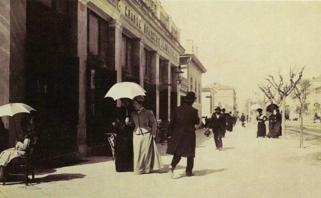 Αθήνα, οδός Πανεπιστημίου, 1900 Το Μεγάλο Βουλεβάρτο, Φωτογραφικό Αρχείο Μουσείου Μπενάκη