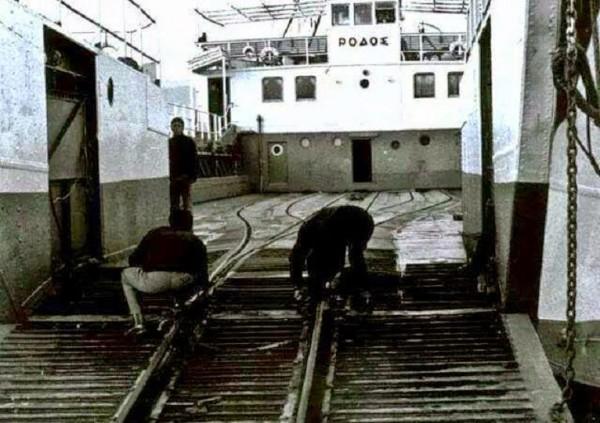 """Όσοι θυμούνται κάποιο σιδηροδρομικό φέρι μποτ με ράγες…αυτό ήταν το """"ΡΟΔΟΣ""""."""