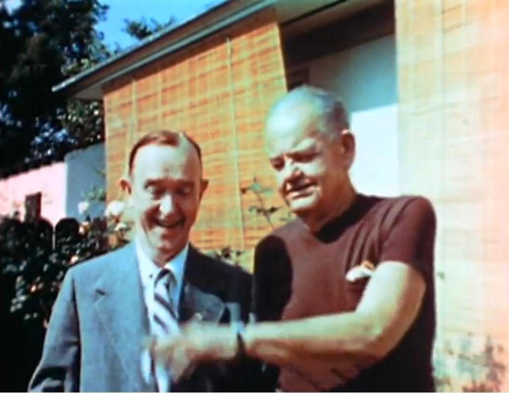 """Η τελευταία συνάντηση του Χοντρού και του Λιγνού. Σπάνιο βίντεο με τον """"Χοντρό"""" να έχει χάσει 60 κιλά. Λίγο μετά πέθανε βυθίζοντας στην κατάθλιψη τον κινηματογραφικό του παρτενέρ"""