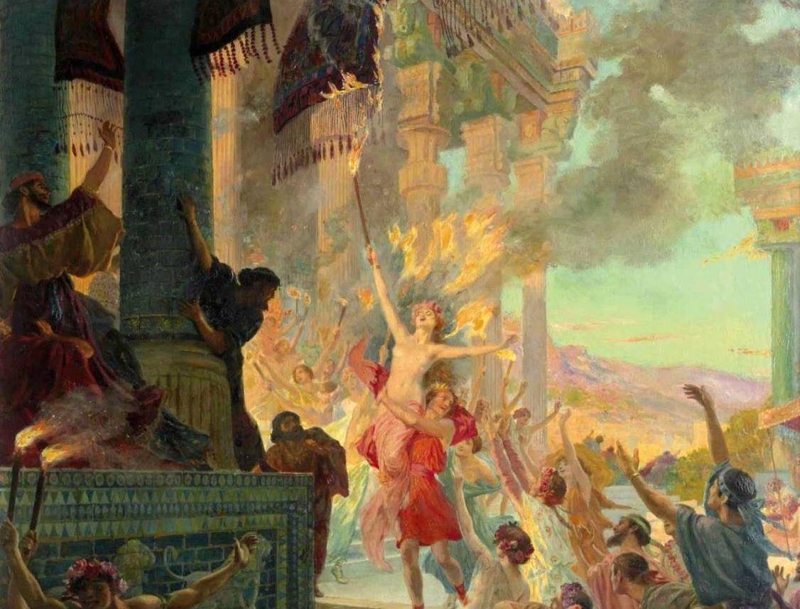 """Η πόρνη που """"έκαψε"""" την Περσέπολη! Η Θαΐς που έπεισε τον Μ. Αλέξανδρο να πυρπολήσει την ανάκτορα της περσικής πόλης ως εκδίκηση για την καταστροφή της Αθήνας. Τελικά έγινε βασίλισσα!"""
