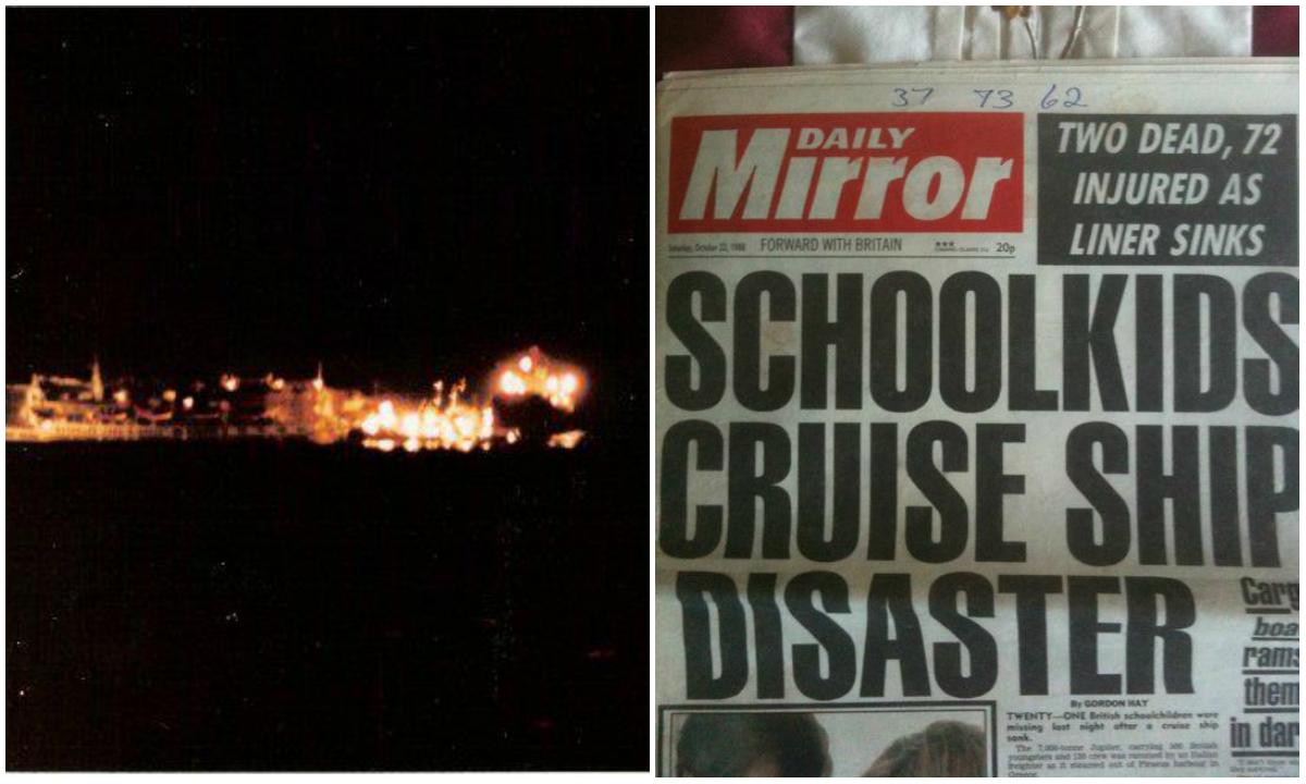 Το ναυάγιο μόλις ένα μίλι από το λιμάνι του Πειραιά. Το κρουαζιερόπλοιο με 415 μαθητές και 60 συνοδούς από 30 βρετανικά σχολεία, βυθίστηκε μέσα σε 45 λεπτά. Η επιχείρηση διάσωσης