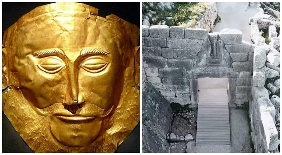 Δείτε από ψηλά το μυθικό βασίλειο των Λεόντων. Γιατί κάποιοι αμφισβήτησαν τον Σλήμαν όταν εντόπισε το χρυσό προσωπείο του Αγαμέμνονα στις Μυκήνες